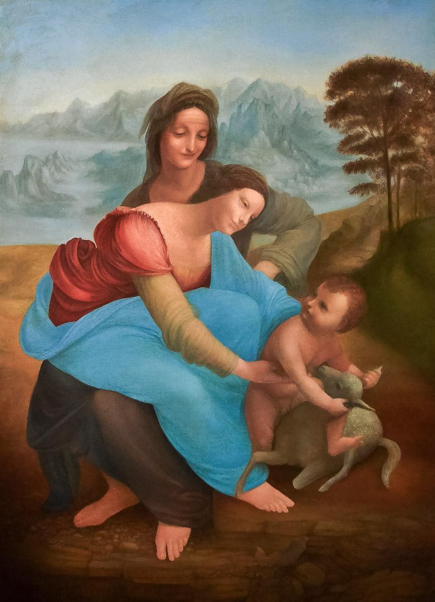 """Herstellungsprozess einer Kopie des Gemäldes Leonardo da Vinci """"Anna selbdritt"""""""
