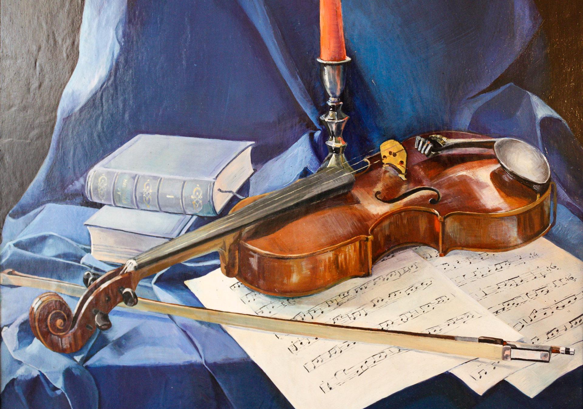 Anna Gestrich – Malerei | Stillleben mit Geige