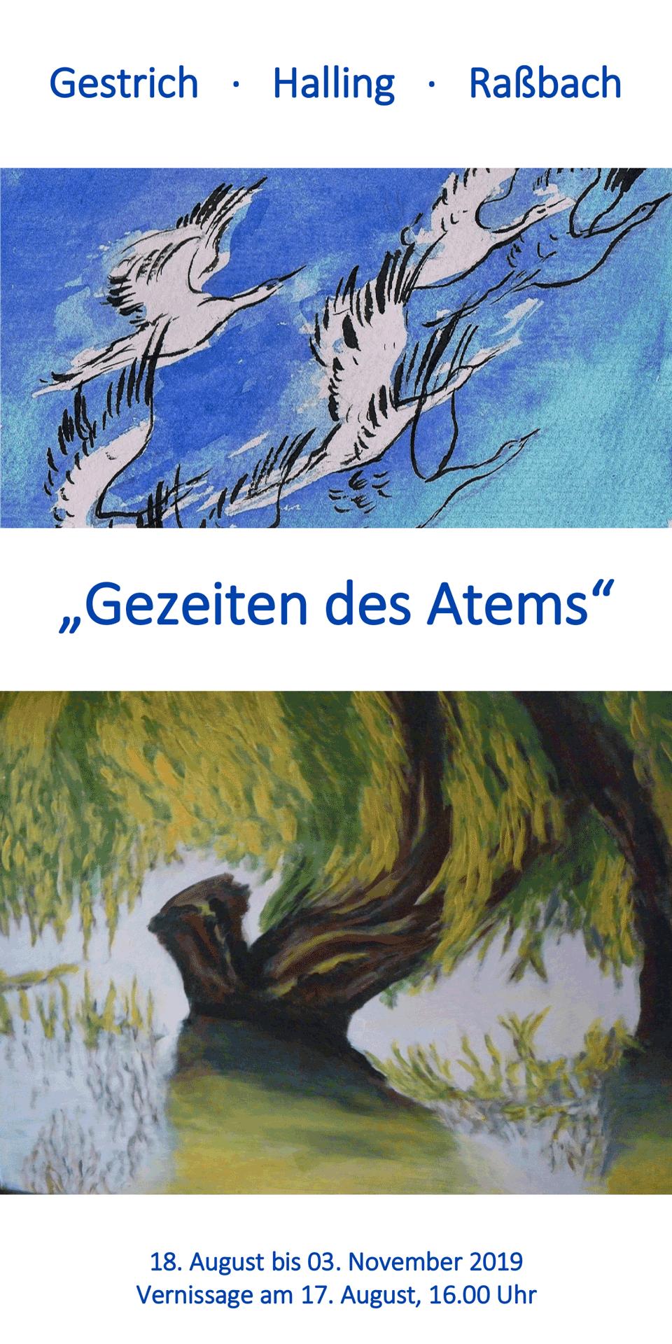 """Einladung zur Ausstellung """"Gezeiten des Atems"""""""