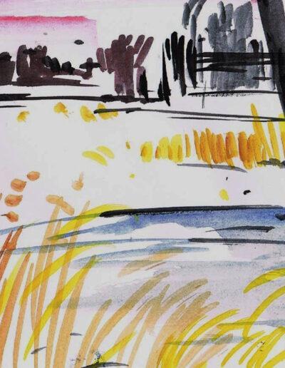 """""""Am Ufer des Abends"""" – Anna Gestrich, Illustrationen für Gedichte von Jürgen Raßbach"""