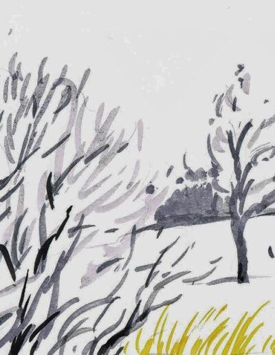 """""""Wintertag"""" – Anna Gestrich, Illustrationen für Gedichte von Jürgen Raßbach"""