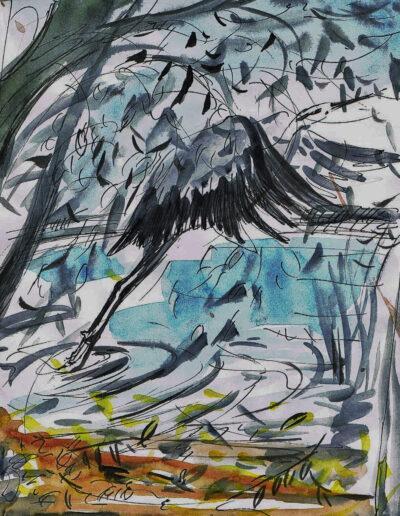 """""""Am Plessower See"""" – Anna Gestrich, Illustrationen für Gedichte von Jürgen Raßbach"""