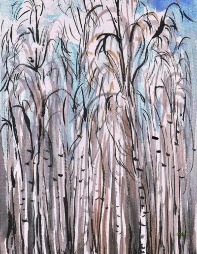 """""""Wind"""" – Anna Gestrich, Illustrationen für Gedichte von Jürgen Raßbach"""