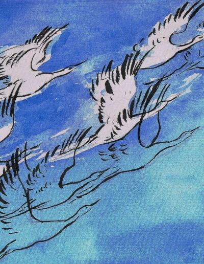 """""""Frühe"""" – Anna Gestrich, Illustrationen für Gedichte von Jürgen Raßbach"""