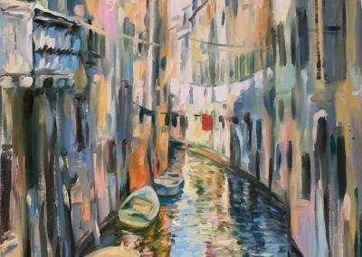 Wasserstraße von Venedig