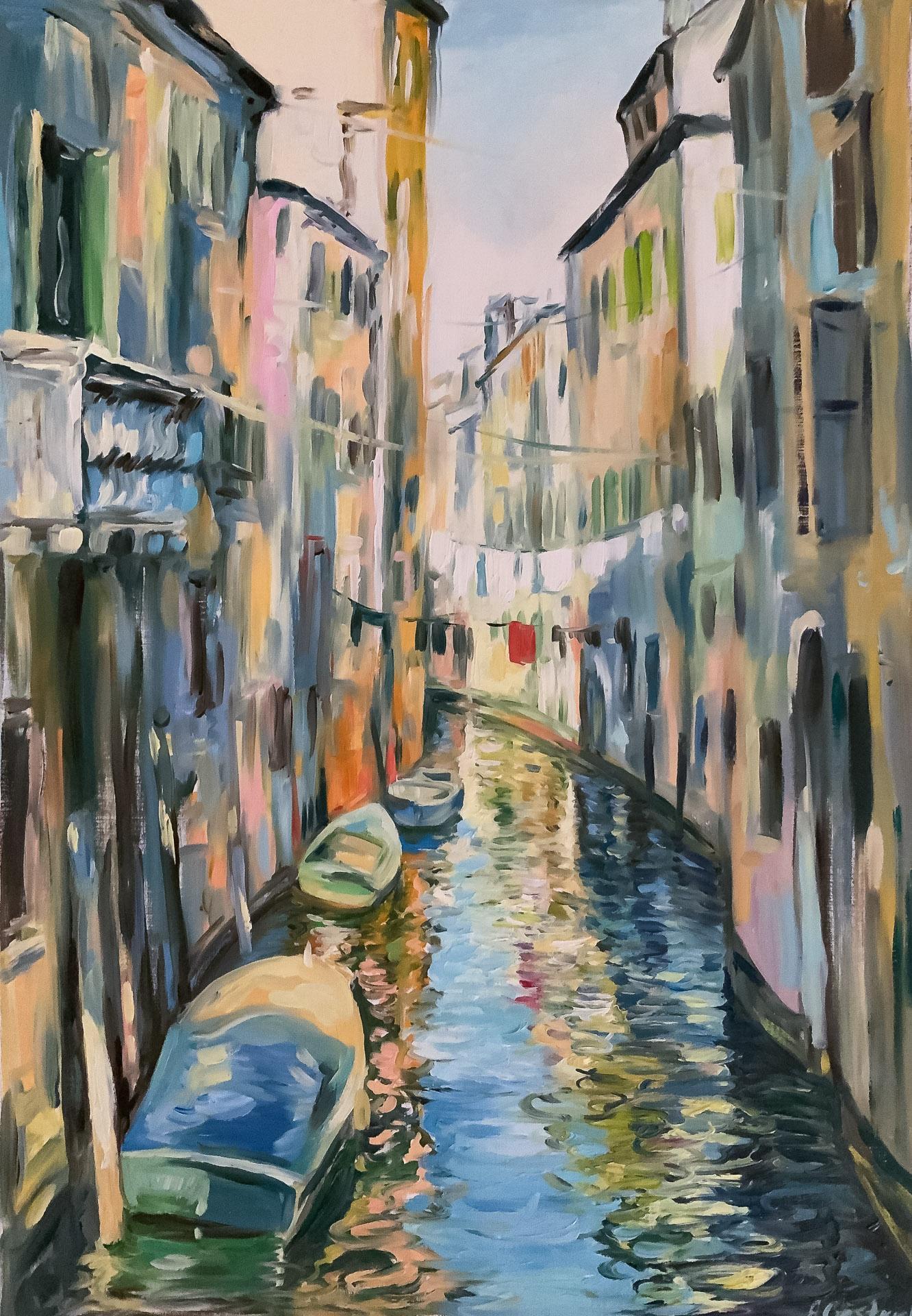 Anna Gestrich – Malerei | Wasserstraße von Venedig