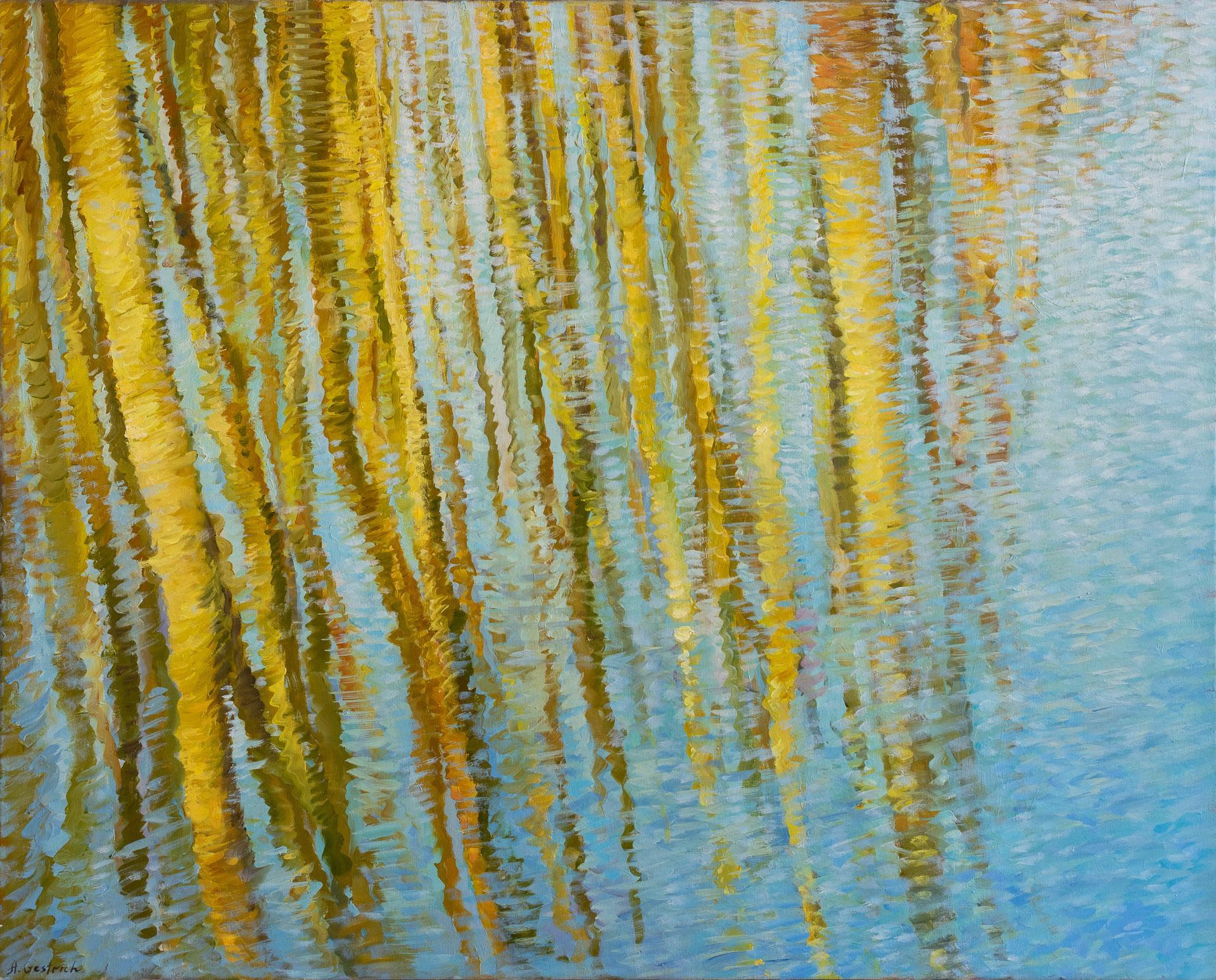 Anna Gestrich – Malerei   Wasserspiegelung im Frühling