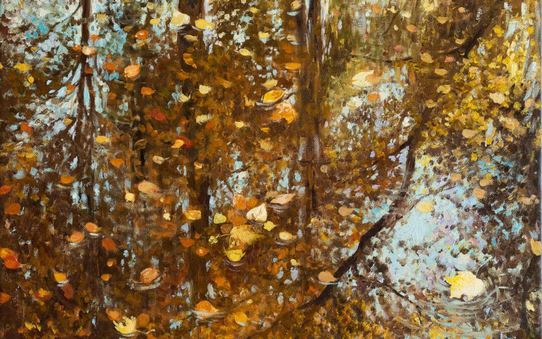 Diptychon Wasserspiegelung im Herbst