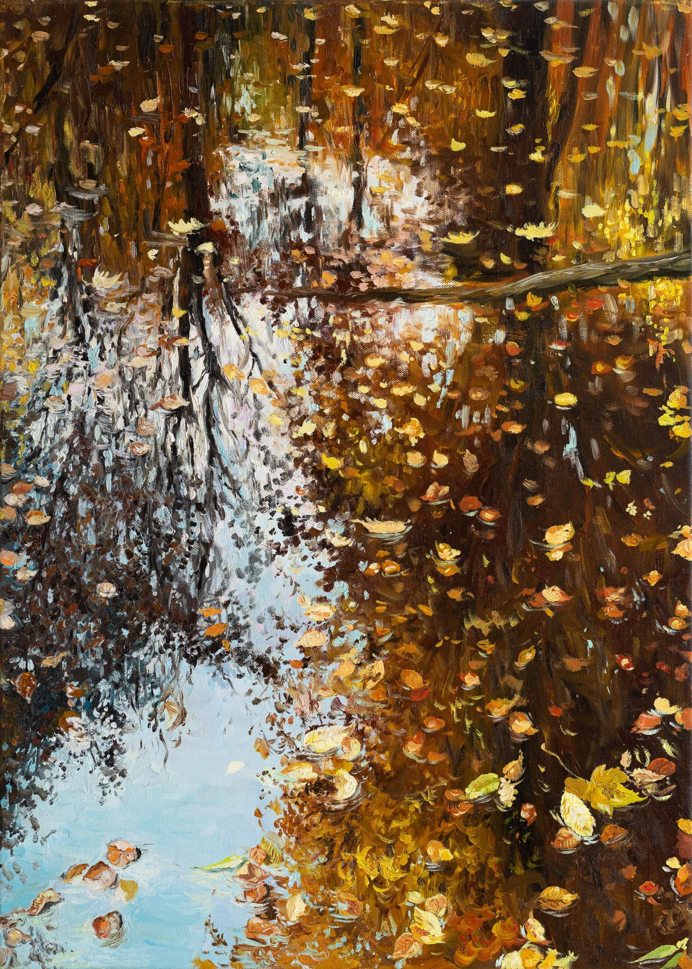 Anna Gestrich – Malerei | Wasserspiegelung im Herbst