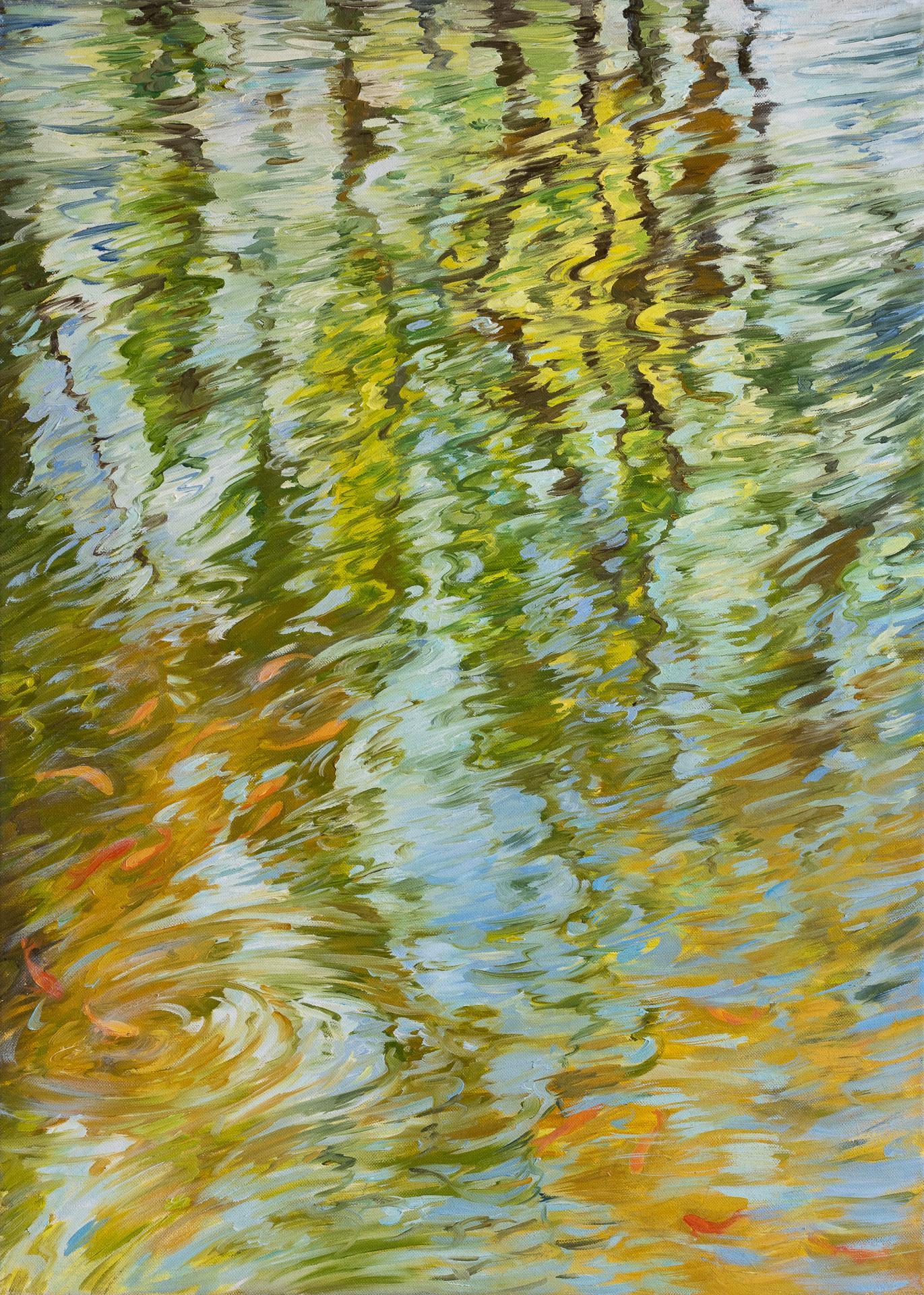 Anna Gestrich – Malerei | Wasserspiegelung im Sommer