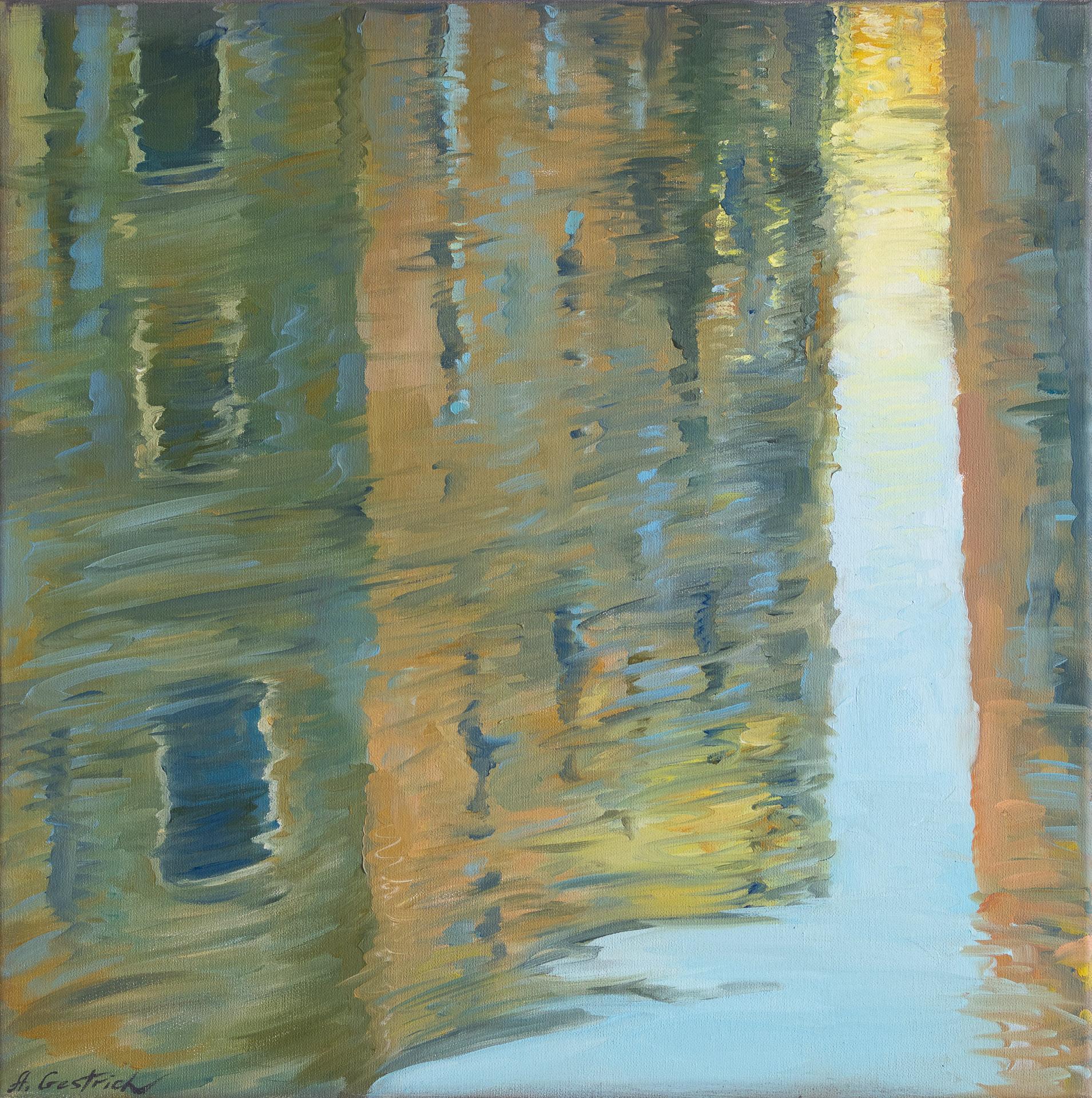 Anna Gestrich – Malerei | Triptychon SPIEGLUNG in Venedig