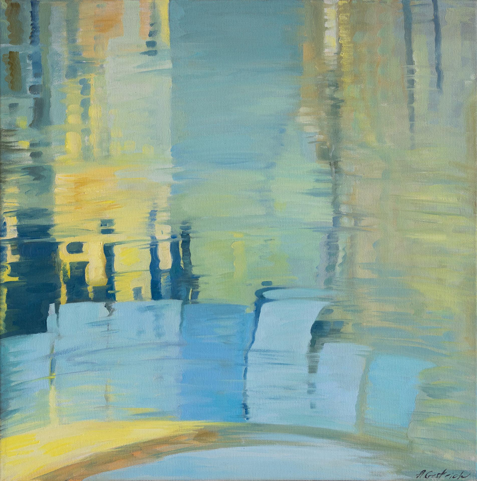 Anna Gestrich – Malerei | Triptychon Spiegelungen in Venedig