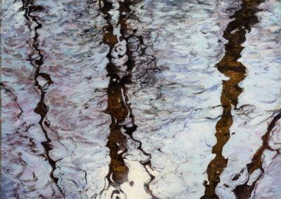 Diptychon Wasserspiegelung im Winter