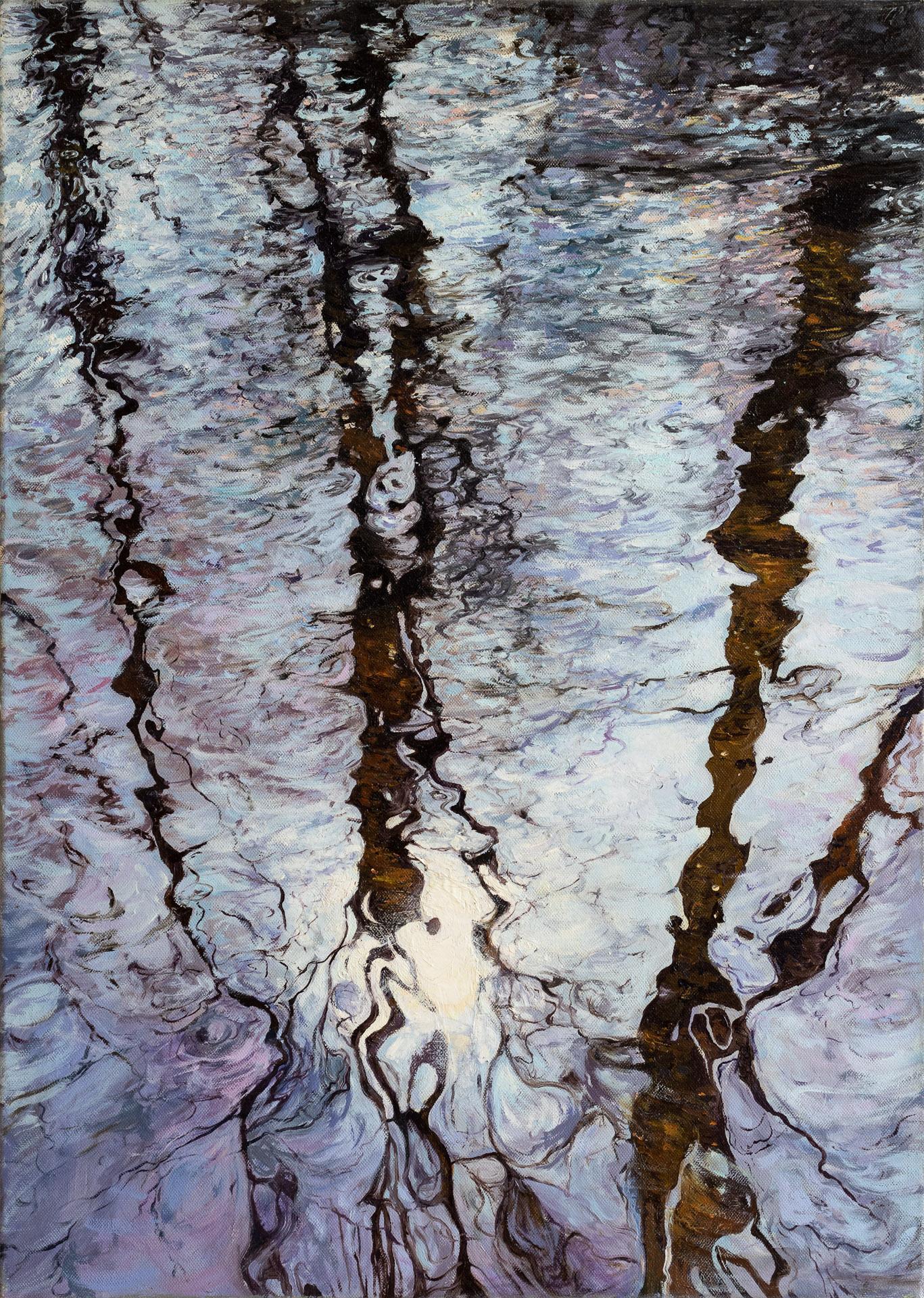 Anna Gestrich – Malerei | Wasserspiegelung im Winter
