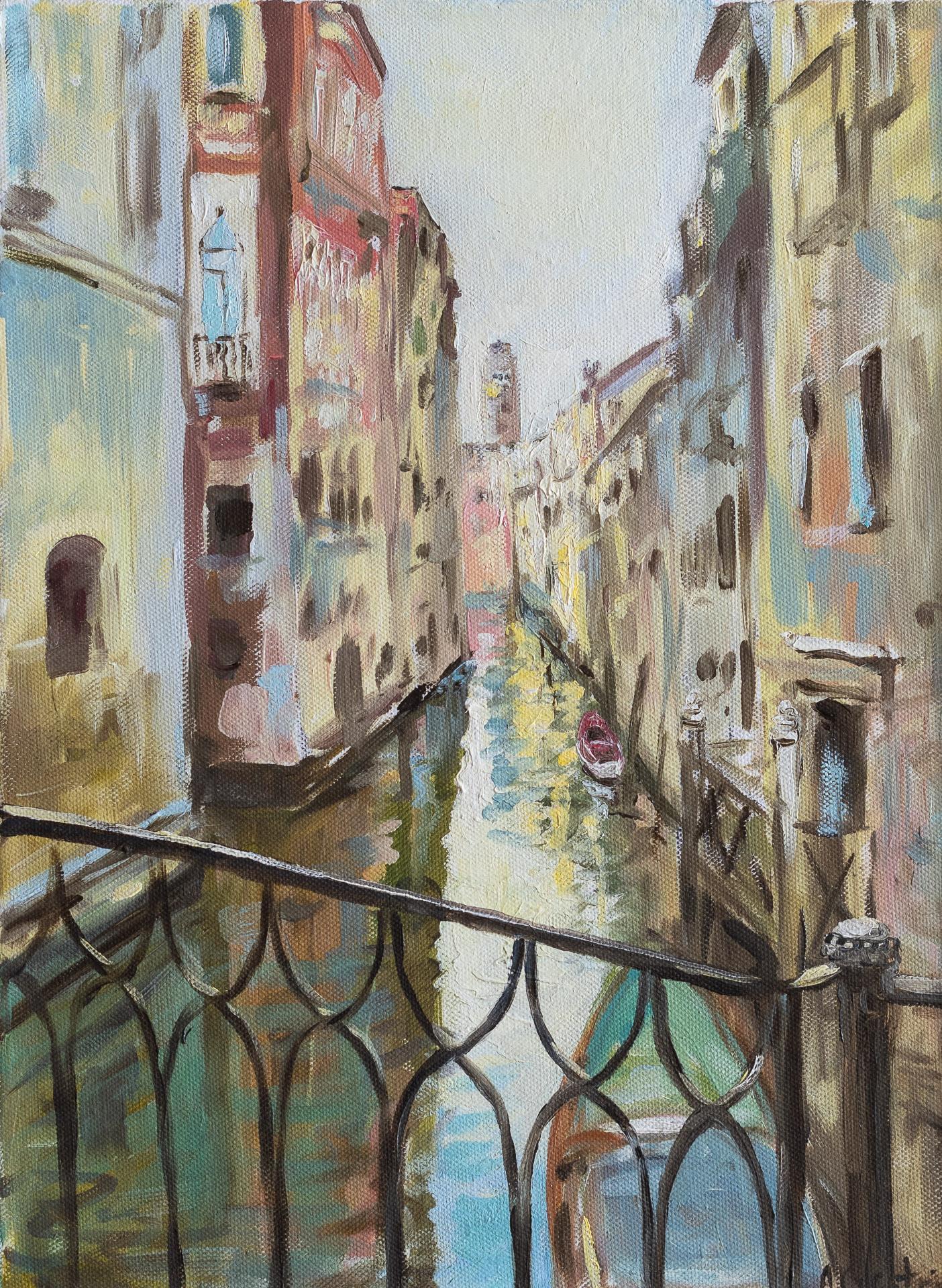 Anna Gestrich – Malerei | Die Wasserstraße von Venedig