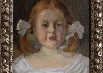 """K. Unkauf """"Mädchenportrait"""""""