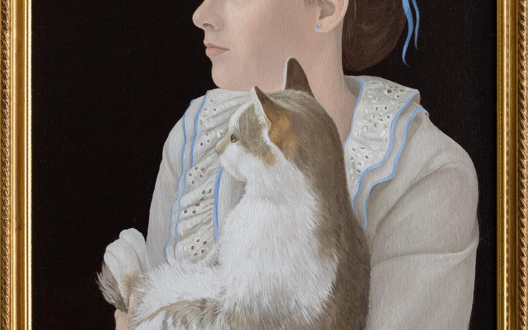 Mädchenportrait mit Katze