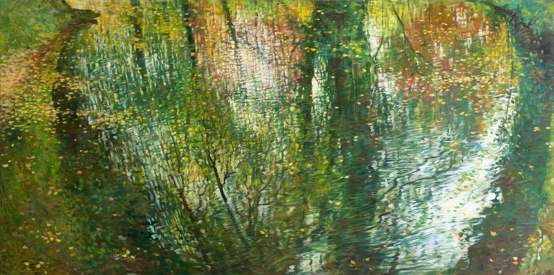 Anna Gestrich – Malerei | Wasserspiegelung im Spätsommer