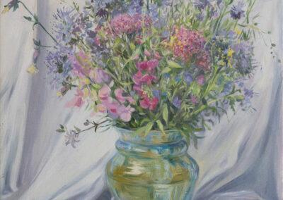 Stillleben mit Wiesenblumen