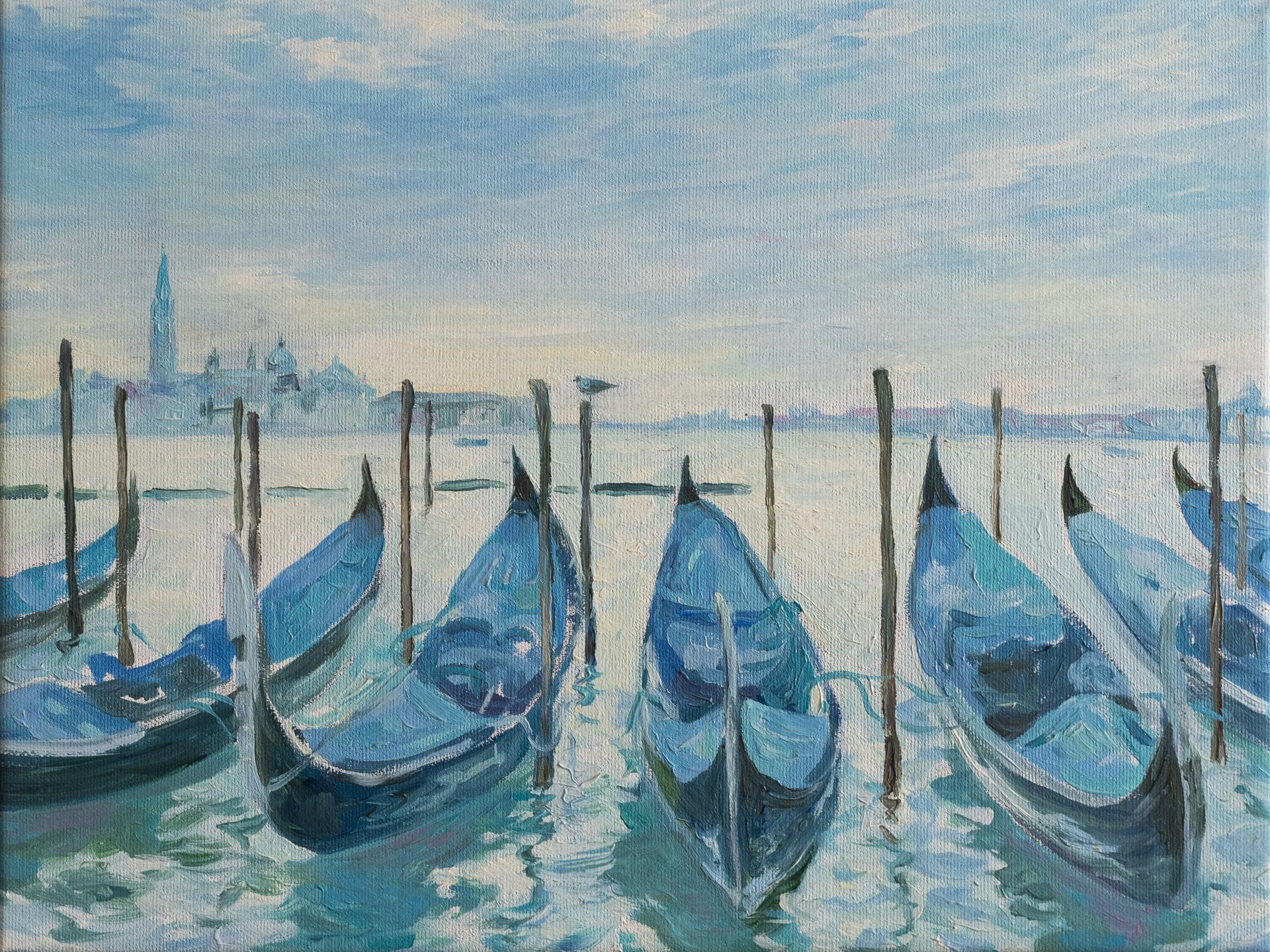 Anna Gestrich – Malerei | Gondeln in Venedig