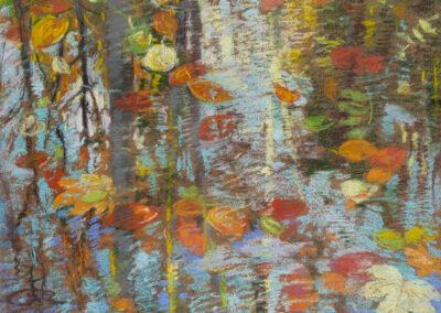 Wasserspiegelung im Herbst