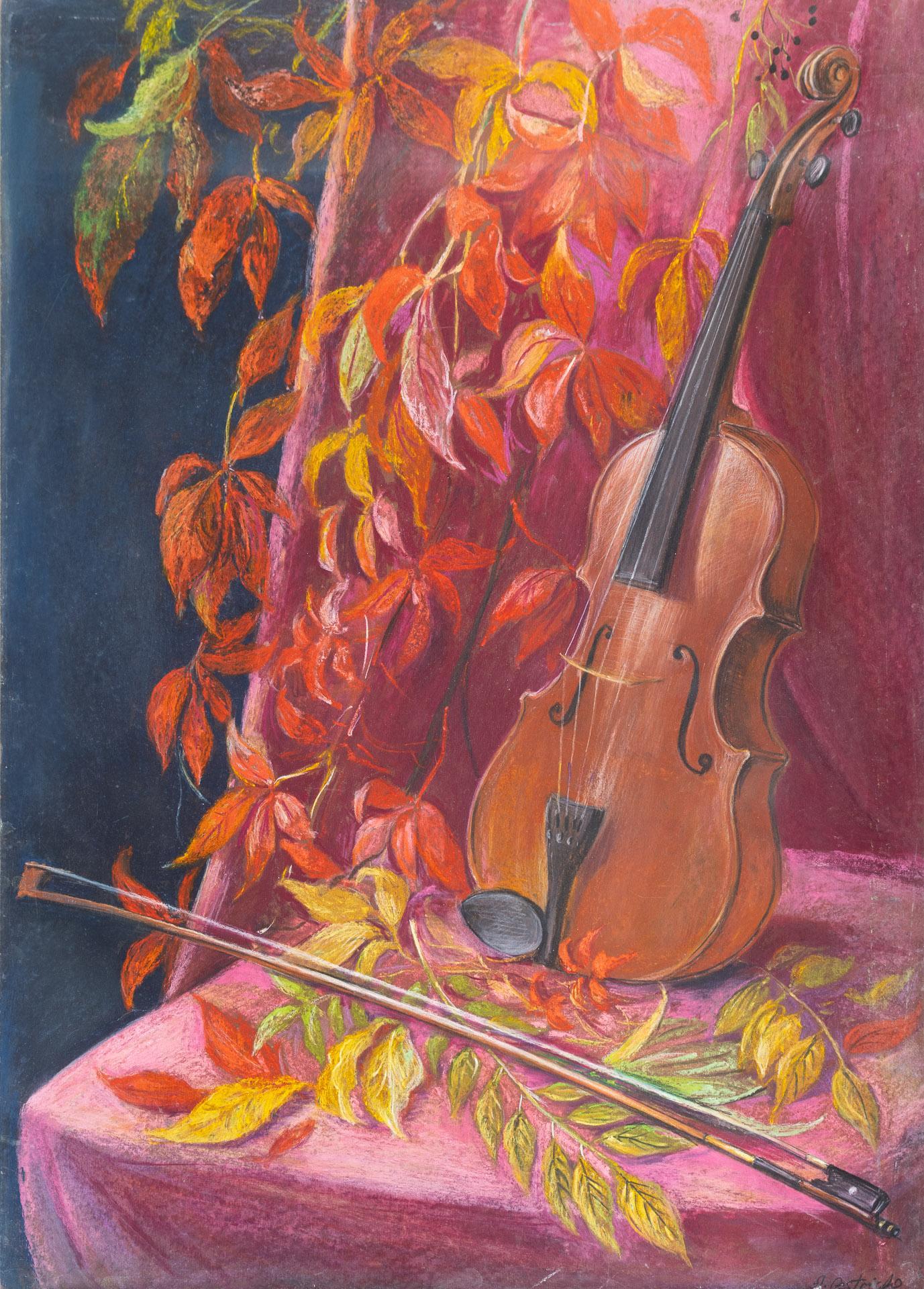 Anna Gestrich – Malerei   Stillleben mit Geige