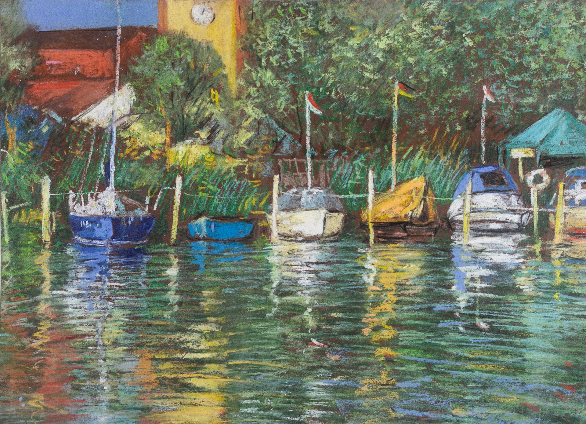 Anna Gestrich – Malerei | Boote – Insel an der Havel